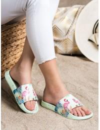Vasariškos stilingos šlepetės su flamingais - YX-59GR