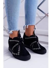 Išskirtiniai juodi batai LU BOO Margo - XW37325 BLK