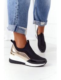 Sportinio dizaino aukštos kokybės batai Black-Gold City Beat - 21PB35-4000 BLK GOLD