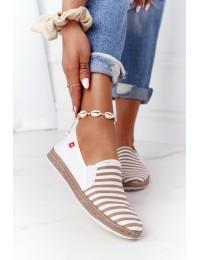 Stilingi SLIP ON bateliai Big Star Beige-White - HH276001 BEIGE/WHITE
