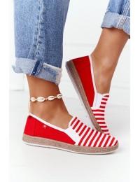 Stilingi SLIP ON bateliai Big Star Red-White - HH276003 RED/WHITE