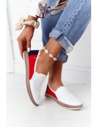 Stilingi SLIP ON bateliai Big Star White-Red - HH276009 WHITE/RED/NAVY