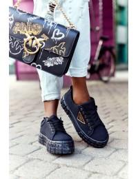 Juodi madingi batai su platforma Big City Life - GD-HR-28 BLACK