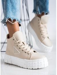 Stilingi rusvi aukštos kokybės batai su platforma - HR-29BE