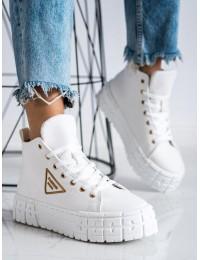 Stilingi balti aukštos kokybės batai su platforma - HR-29W
