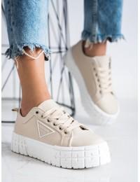 Stilingi rusvi aukštos kokybės batai su platforma - HR-28BE