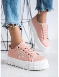 Stilingi rausvi aukštos kokybės batai su platforma - HR-28P