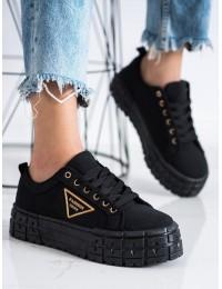 Stilingi juodi aukštos kokybės batai su platforma - HR-28B