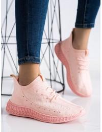 Rožinės spalvos elastingi sportinio tipo bateliai - PC01LT.P
