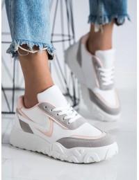 Madingi SNEAKERS modelio batai su platforma - VL126P