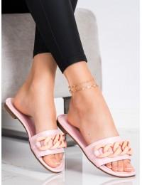 Rožinės spalvos stilingos šlepetės - 7857-1P