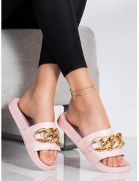 Rožinės šlepetės su dekoratyvia grandinėle - WS2101P