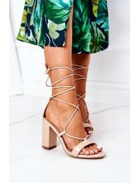 Lace-up High Heel Sandals Beige Catwalk - SY63P BEIGE