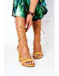 Lace-up High Heel Sandals Yellow Catwalk - SY63P YELLOW