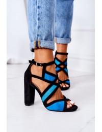 Elegantiškos ir stilingos aukštakulnės basutės\n - LE071P BLUE
