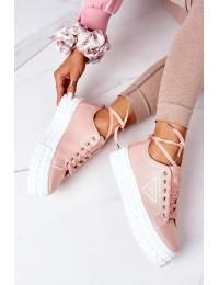Women's Sneakers On A Platform Pink Big City Life - GD-HR-28 PINK