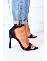 Elegant Sandals On High Heel Lu Boo Black - C0982-2B3 BLACK