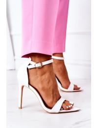 Elegant Sandals On High Heel Lu Boo White - C0982-2B3 WHITE