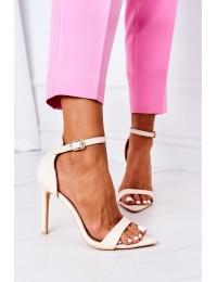 Elegant Sandals On High Heel Lu Boo Beige - C0982-2B3 BEIGE