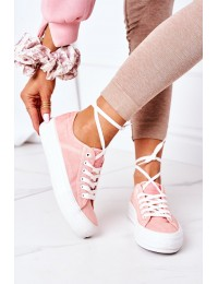 Women's Sneakers On A Platform Lee Cooper LCW-21-31-0125L Coral  - LCW-21-31-0125L CORAL