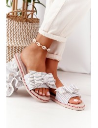 Rubber Slippers With A Bow White Gabriell - K111 WHITE