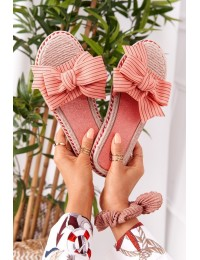 Rubber Slippers With Pink Gabriell Bow - K111 PINK