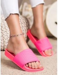 Ryškios stilingos rožinės šlepetės - 38859F