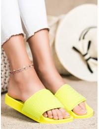 Ryškios stilingos geltonos šlepetės - 38859Y