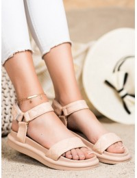 Smėlio spalvos patogios stilingos basutės - CK197BE