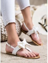 Stilingos baltos spalvos basutės su kaspinėliu - CK196W