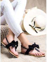 Stilingos juodos spalvos basutės su kaspinėliu - CK196B