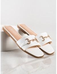 Elegantiškos baltos spalvos šlepetės - CK186W