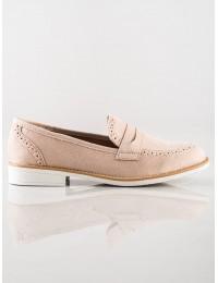 Klasikinio dizaino smėlio spalvos batai - AB689NU