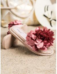 Žavingos šlepetės su gėlėmis - LS005P