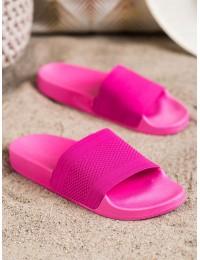 Ryškios rožinės spalvos lengvos patogios šlepetės - MU-5FU