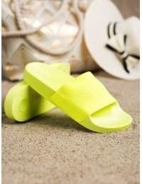 Ryškios geltonos spalvos lengvos patogios šlepetės - MU-5Y