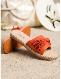 Oranžinės spalvos stilingos šlepetės - H117NA
