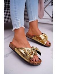 Aukso spalvos šlepetės - CK111 GOLD