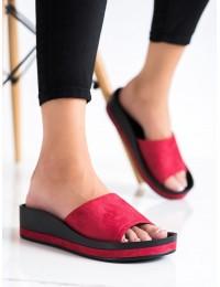 Klasikinio dizaino raudonos šlepetės - YQE21-17113R
