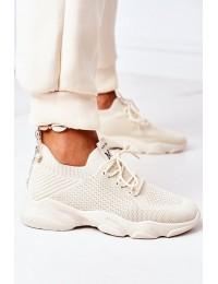 Smėlio spalvos laisvalaikio batai Beige Fashion - NB501 BEIGE