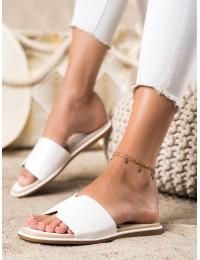 Stilingos odinės elegantiškos šlepetės - 395W