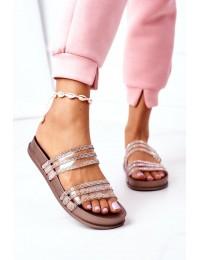 Stilingos originalaus dizaino šlepetės Miss You - RS01 ROSE GOLD