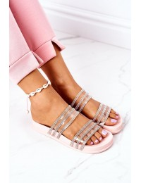Stilingos originalaus dizaino šlepetės Miss You - RS01 PINK