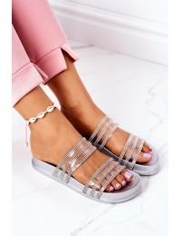 Stilingos originalaus dizaino šlepetės Miss You - RS01 SILVER