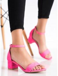 Elegantiškos rožinės spalvos klasikinės basutės - 2D2L889-01P