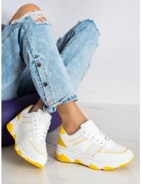 Geltoni ir balti sportinio stiliaus batai - 6306Y