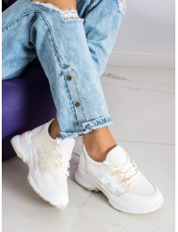 Balti sportinio dizaino batai - BK-161W/ROSE