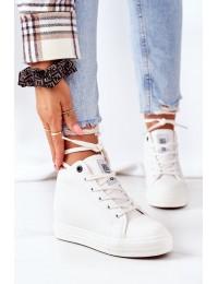 Balti stilingi aukštos kokybės Big Star batai su platforma - EE274128 WHITE