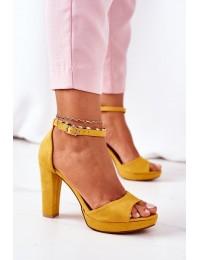 Geltonos aukštakulnės basutės Yellow Sarah - S-850 YELLOW