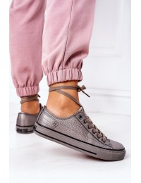 Women's Leather Sneakers BIG STAR II274003 Pewter - II274003 GRAFIT